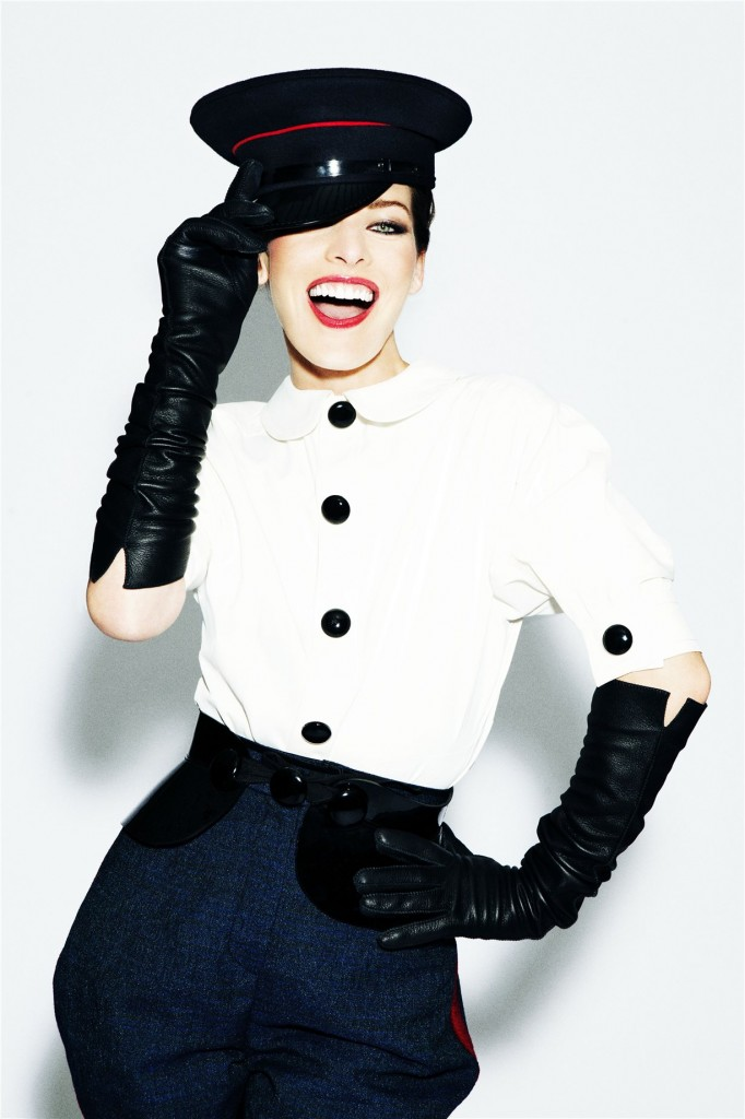 Milla Jovovich - Ellen von Unwerth Photoshoot for Marie Claire 2011.
